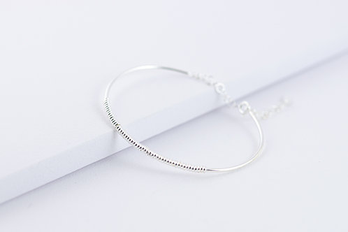 Glitter - Silber Armreif