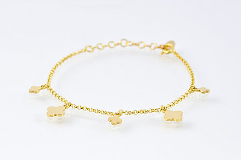 Lucky - Silber Armkette