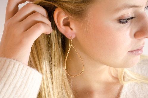 Cornelia - L - Silber Ohrring