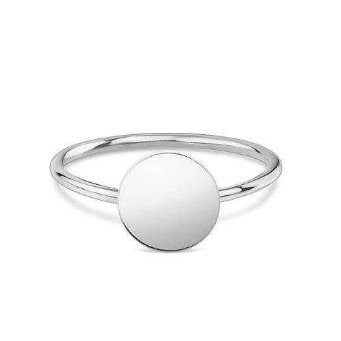 Round - Silber Ring (large)