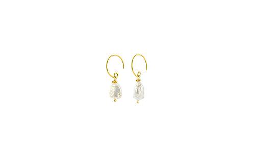 Aquamarina -  Silber Perlen Ohrringe