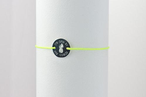 Pina Colada - Gravur Silber Armband