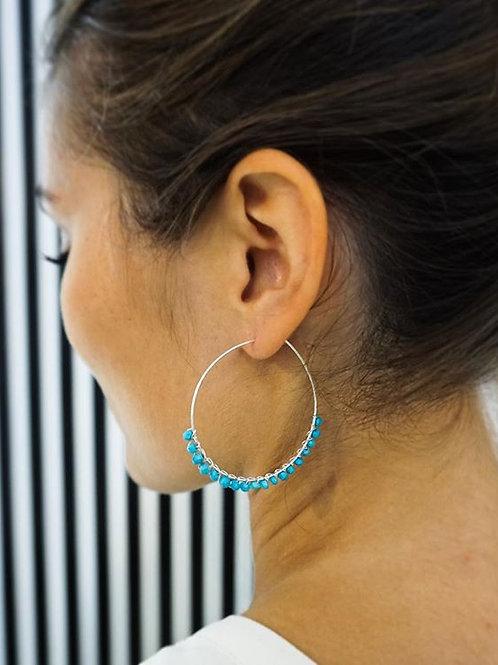 Azul - Silber Ohrring