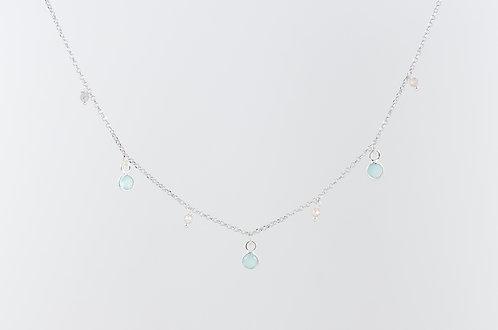 Blue - Silber Halskette