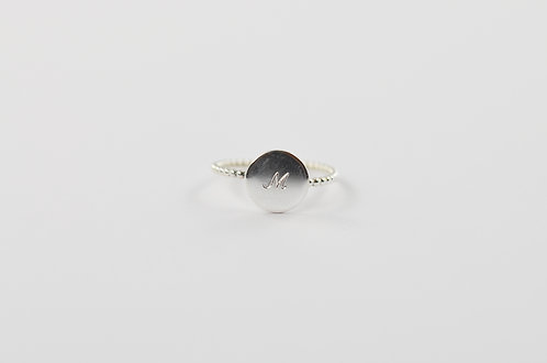 Dotted Round - Silber Ring (large)