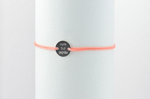 Cute but psycho - Gravur Silber Armband