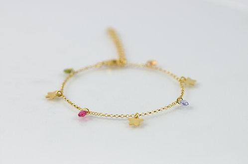 Starlett - Silber Armkette