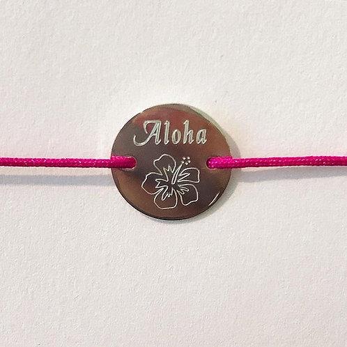 Aloha - Gravur Silber Armband