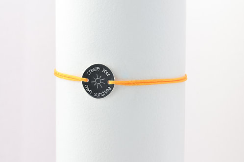 Sunshine - Gravur Silber Armband
