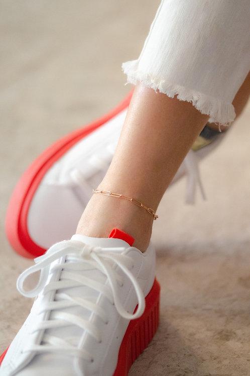 Chain Anklet - Silber Fußkette