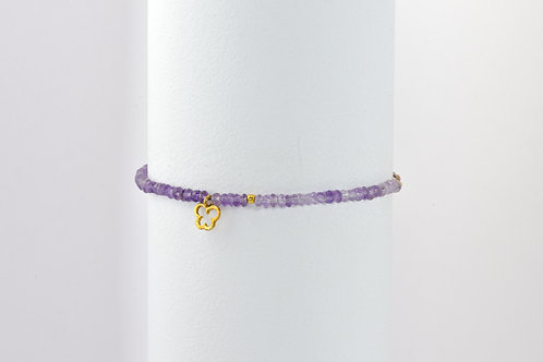 Papillon Purple - Silber Stein Armband