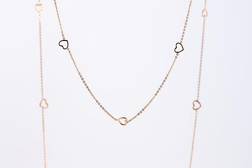 Venus - Lange Silber Halskette