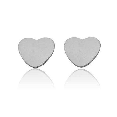 Heart - Silber Ohrstecker