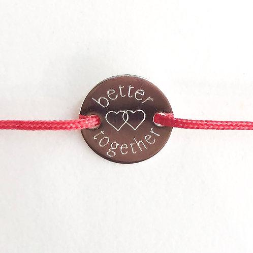 Better together - Gravur Silber Armband