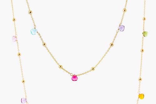 Candy Cane - Lange Silber Halskette