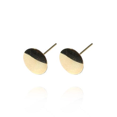Flat Round - Gold Ohrring