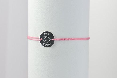 Dreamer - Gravur Silber Armband