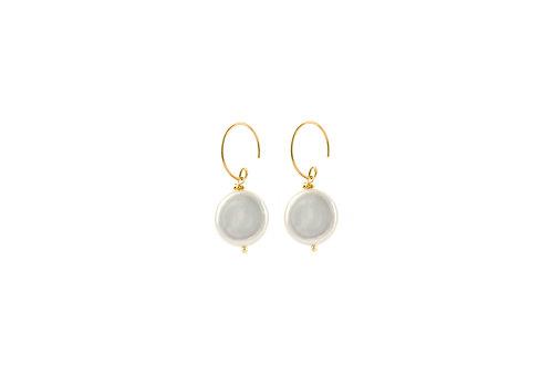 Yara -  Silber Perlen Ohrringe