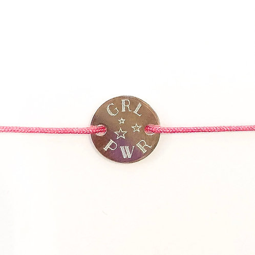 Girlpower - Gravur Silber Armband