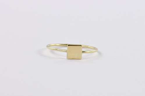Square - Gold Ring