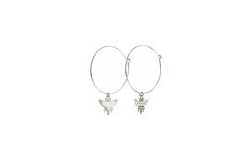 Bees - Silber Ohrringe
