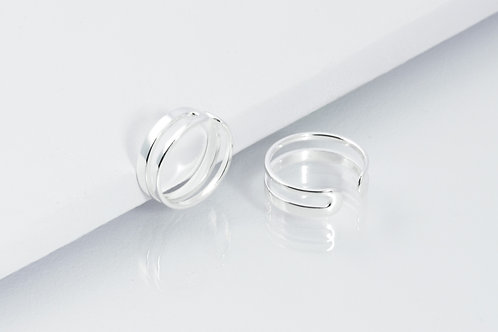 Double Trouble - Silber Ring