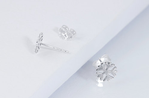 Snowflake - Silber Ohrstecker