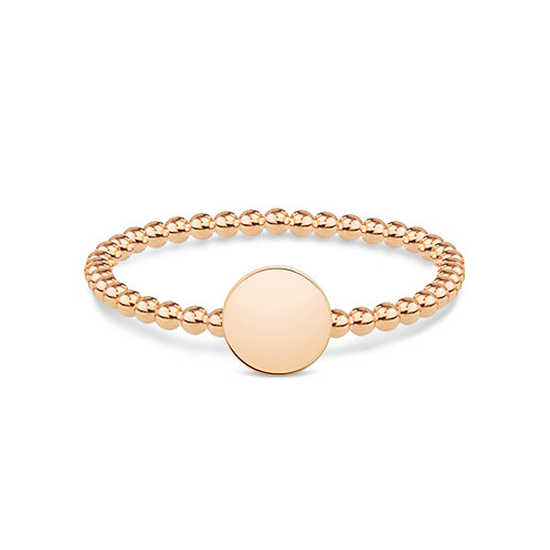 Dotted Round - Gold Ring (small)
