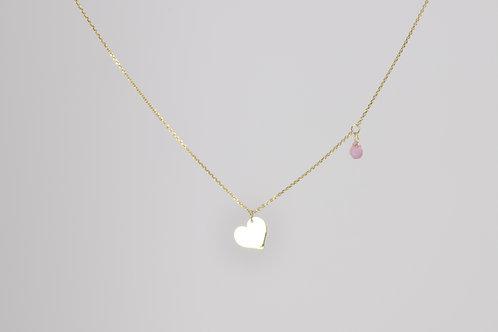 l'amour - 14 K Gold Halskette mit Saphir