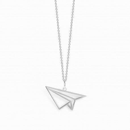 Paperplane - Silber Halskette