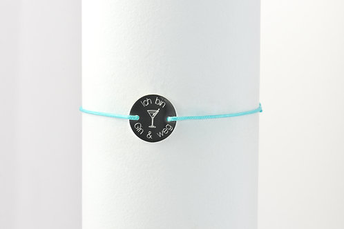 Gin & Weg - Gravur Silber Armband