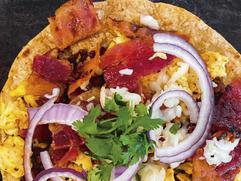 taco bacon egg & cheese