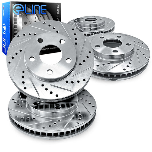 R1Concepts E-Line Drilled & Slotted Brake Rotors | 2013-2019 Taurus SHO REAR