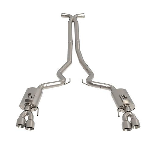 """Kooks 18+ Mustang 5.0L 4V Convertible 3"""" Cat-Back w/ X-Pipe 4in Polished Tips"""