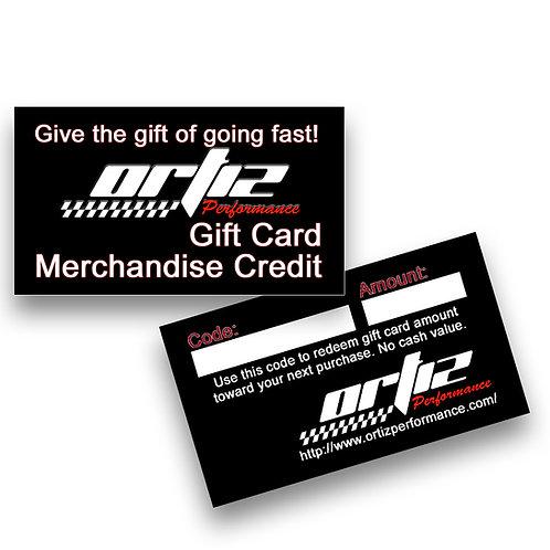 Ortiz Performance Gift Card / Certificate