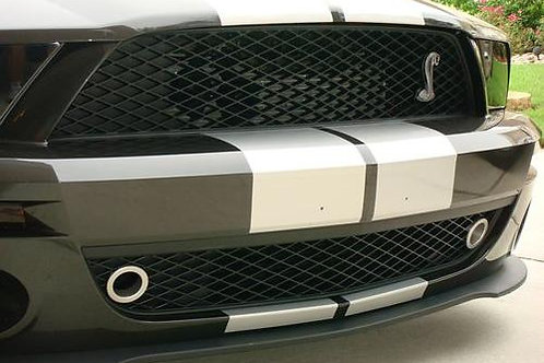 JLT 07-09 Mustang GT500 Fresh Air Kit Blk Anodized Grille Bezels
