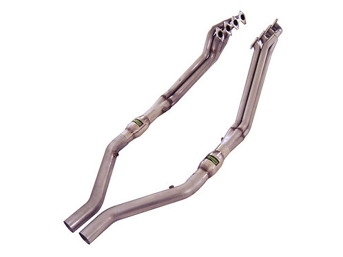 "Stainless Works 05-10 Mustang GT 1.75"" Headers 3"" Hi-Flow Cats OE Conn"