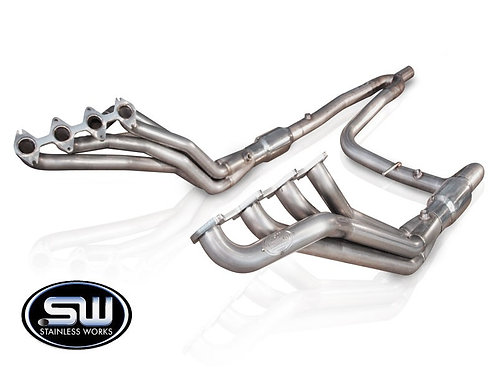 """Stainless Works 04-08 F150 5.4L Headers 1.75"""" Primary 2.5"""" Hi-Flow Cats Y-Pipe"""
