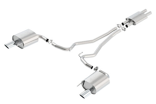 Borla ATAK Exhaust Single Split Rear Catback | 15-17 Mustang 3.7L