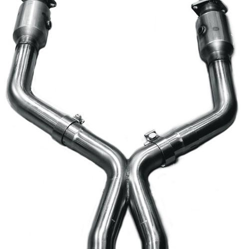 "Kooks 11-14 Mustang GT 5.0L 4V 3""x2 3/4in OE Exhaust GREEN CAT X-Pipe"
