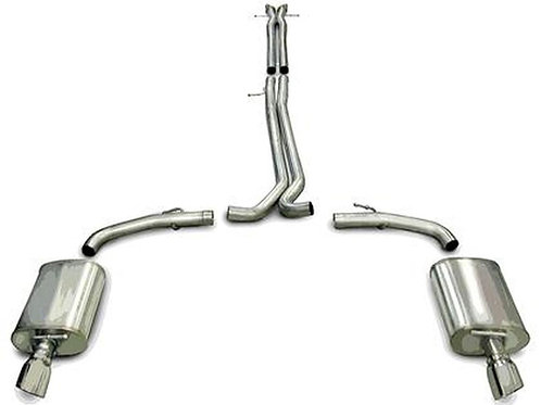 Corsa 10-16 Ford Taurus SHO 3.5L V6 Turbo Polished Sport Cat-Back Exhaust