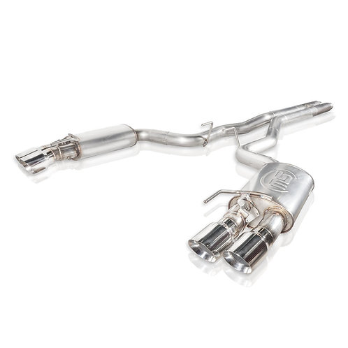 """Stainless Works 18+ Mustang GT 3"""" Redline CB H-Pipe w/Active Valves & Quad Tips"""