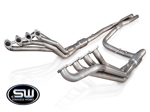 """Stainless Works 04-08 F150 5.4L Headers 1.75"""" Primary 2.5"""" Hi-Flow Cats"""