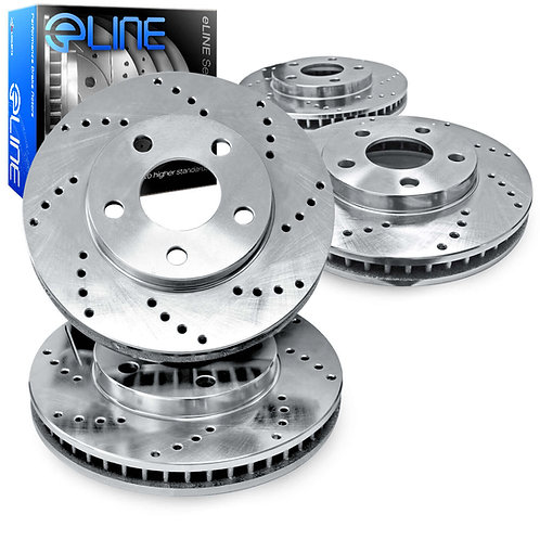 R1Concepts E-Line Drilled Brake Rotors | 2013-2019 Taurus SHO FRONT