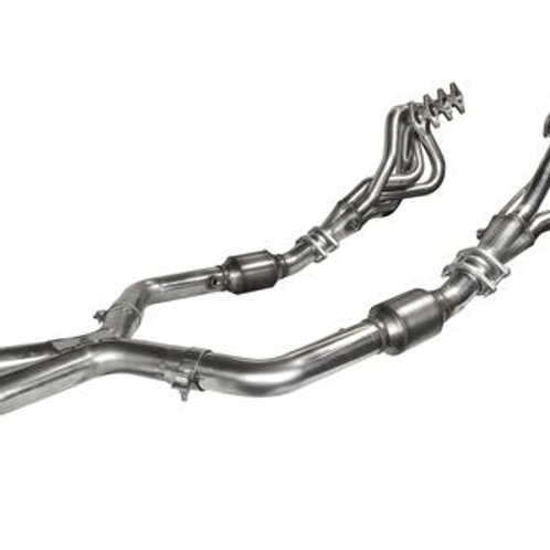 """Kooks 05-10 Mustang GT MTX 1.625""""x2.5"""" SS LT Headers and OE Catted SS X-Pipe"""