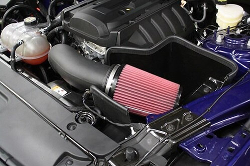 JLT 15-19 Mustang 2.3L ECO Blk Textured CAI Kit | Red Filter