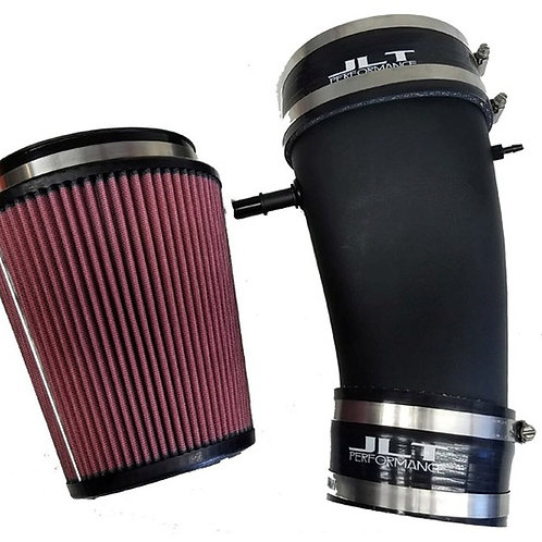 JLT 10-14 Mustang GT500 Blk Textured Induction Kit Replacement Red Air Filter