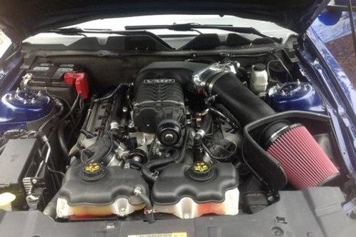 JLT 11-14 Mustang GT (Roush/Whipple S/C) Blk Textured BAI Red Filter |Tune Req