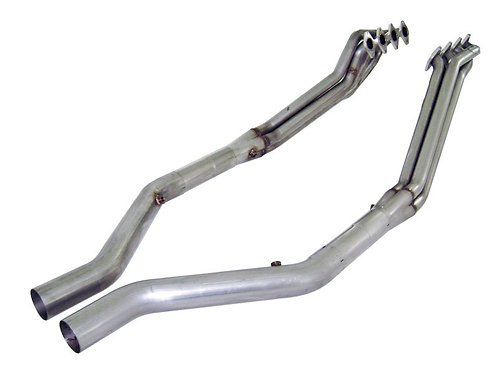"Stainless Works 05-10 Mustang GT 1.75"" Headers 3"" X-Pipe OE Conn"