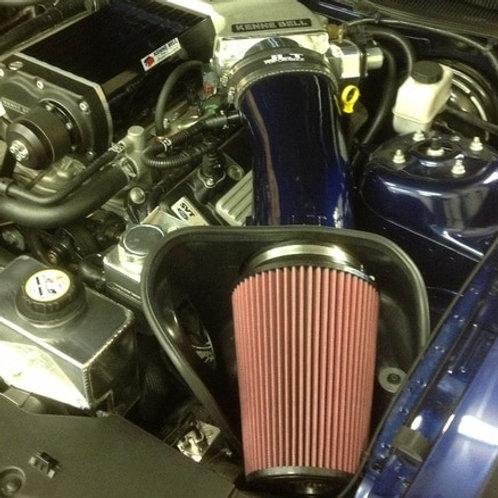 JLT 10-14 Mustang GT500 Blk Textured BAI Kit | Red Filter | Tune Req